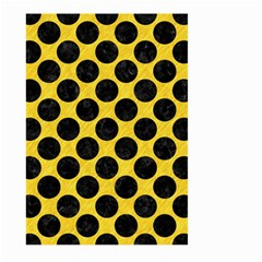 Circles2 Black Marble & Yellow Colored Pencil Large Garden Flag (two Sides)