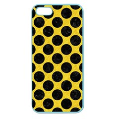 Circles2 Black Marble & Yellow Colored Pencil Apple Seamless Iphone 5 Case (color)