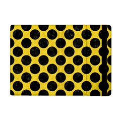 Circles2 Black Marble & Yellow Colored Pencil Apple Ipad Mini Flip Case