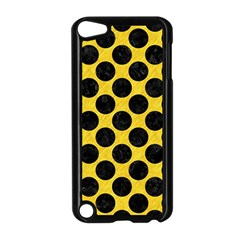 Circles2 Black Marble & Yellow Colored Pencil Apple Ipod Touch 5 Case (black)