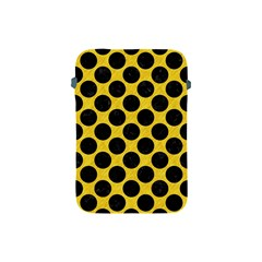 Circles2 Black Marble & Yellow Colored Pencil Apple Ipad Mini Protective Soft Cases