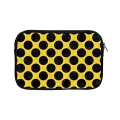 Circles2 Black Marble & Yellow Colored Pencil Apple Ipad Mini Zipper Cases