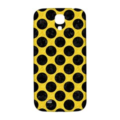 Circles2 Black Marble & Yellow Colored Pencil Samsung Galaxy S4 I9500/i9505  Hardshell Back Case