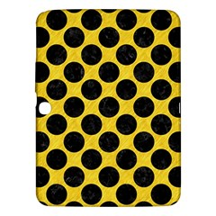 Circles2 Black Marble & Yellow Colored Pencil Samsung Galaxy Tab 3 (10 1 ) P5200 Hardshell Case