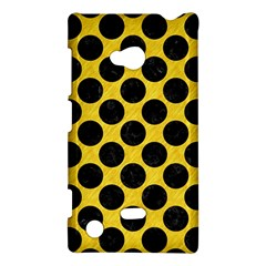 Circles2 Black Marble & Yellow Colored Pencil Nokia Lumia 720