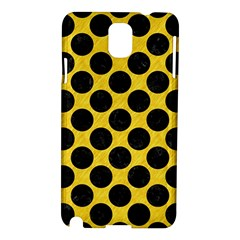 Circles2 Black Marble & Yellow Colored Pencil Samsung Galaxy Note 3 N9005 Hardshell Case