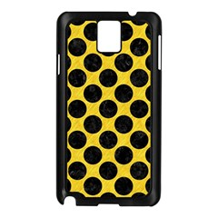 Circles2 Black Marble & Yellow Colored Pencil Samsung Galaxy Note 3 N9005 Case (black)