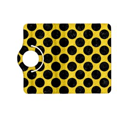 Circles2 Black Marble & Yellow Colored Pencil Kindle Fire Hd (2013) Flip 360 Case