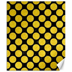 Circles2 Black Marble & Yellow Colored Pencil (r) Canvas 8  X 10