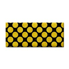 Circles2 Black Marble & Yellow Colored Pencil (r) Cosmetic Storage Cases