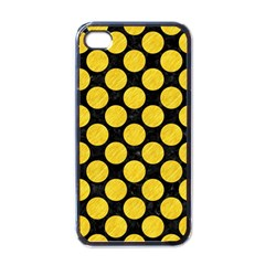 Circles2 Black Marble & Yellow Colored Pencil (r) Apple Iphone 4 Case (black)