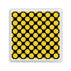 Circles2 Black Marble & Yellow Colored Pencil (r) Memory Card Reader (square)