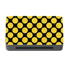 Circles2 Black Marble & Yellow Colored Pencil (r) Memory Card Reader With Cf