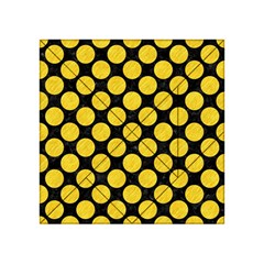 Circles2 Black Marble & Yellow Colored Pencil (r) Acrylic Tangram Puzzle (4  X 4 )