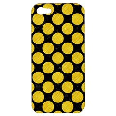 Circles2 Black Marble & Yellow Colored Pencil (r) Apple Iphone 5 Hardshell Case