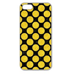Circles2 Black Marble & Yellow Colored Pencil (r) Apple Seamless Iphone 5 Case (clear)