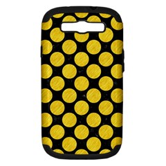Circles2 Black Marble & Yellow Colored Pencil (r) Samsung Galaxy S Iii Hardshell Case (pc+silicone)