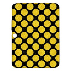 Circles2 Black Marble & Yellow Colored Pencil (r) Samsung Galaxy Tab 3 (10 1 ) P5200 Hardshell Case