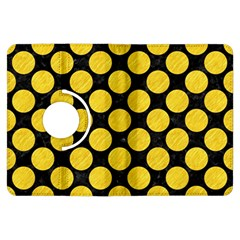 Circles2 Black Marble & Yellow Colored Pencil (r) Kindle Fire Hdx Flip 360 Case