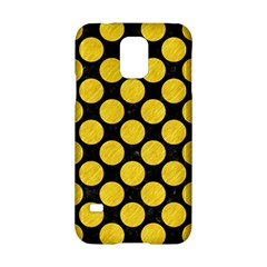 Circles2 Black Marble & Yellow Colored Pencil (r) Samsung Galaxy S5 Hardshell Case