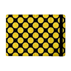 Circles2 Black Marble & Yellow Colored Pencil (r) Ipad Mini 2 Flip Cases