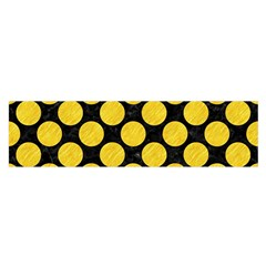 Circles2 Black Marble & Yellow Colored Pencil (r) Satin Scarf (oblong)