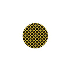 Circles3 Black Marble & Yellow Colored Pencil 1  Mini Magnets