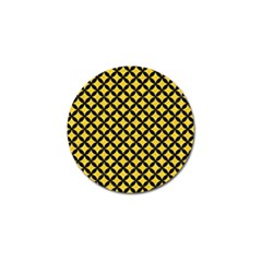 Circles3 Black Marble & Yellow Colored Pencil Golf Ball Marker (10 Pack)