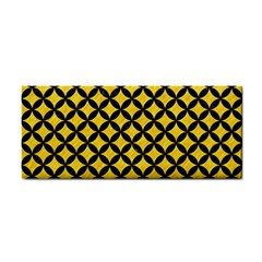 Circles3 Black Marble & Yellow Colored Pencil Cosmetic Storage Cases