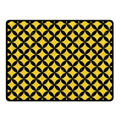 Circles3 Black Marble & Yellow Colored Pencil Fleece Blanket (small)