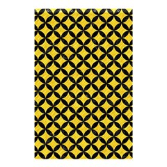 Circles3 Black Marble & Yellow Colored Pencil Shower Curtain 48  X 72  (small)