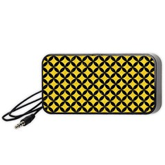 Circles3 Black Marble & Yellow Colored Pencil Portable Speaker
