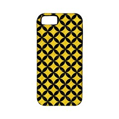 Circles3 Black Marble & Yellow Colored Pencil Apple Iphone 5 Classic Hardshell Case (pc+silicone)