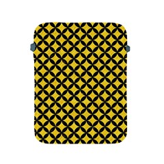 Circles3 Black Marble & Yellow Colored Pencil Apple Ipad 2/3/4 Protective Soft Cases