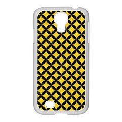 Circles3 Black Marble & Yellow Colored Pencil Samsung Galaxy S4 I9500/ I9505 Case (white)