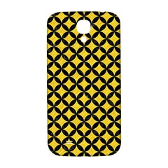 Circles3 Black Marble & Yellow Colored Pencil Samsung Galaxy S4 I9500/i9505  Hardshell Back Case