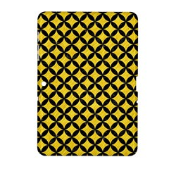 Circles3 Black Marble & Yellow Colored Pencil Samsung Galaxy Tab 2 (10 1 ) P5100 Hardshell Case