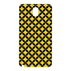 Circles3 Black Marble & Yellow Colored Pencil Samsung Galaxy Note 3 N9005 Hardshell Back Case