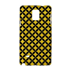 Circles3 Black Marble & Yellow Colored Pencil Samsung Galaxy Note 4 Hardshell Case