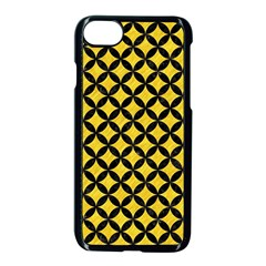 Circles3 Black Marble & Yellow Colored Pencil Apple Iphone 8 Seamless Case (black)