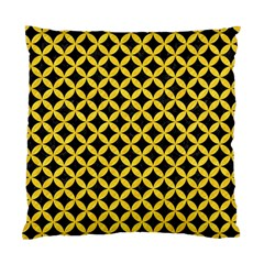 Circles3 Black Marble & Yellow Colored Pencil (r) Standard Cushion Case (one Side)