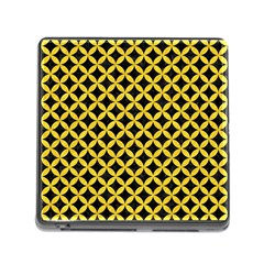 Circles3 Black Marble & Yellow Colored Pencil (r) Memory Card Reader (square)