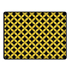 Circles3 Black Marble & Yellow Colored Pencil (r) Fleece Blanket (small)