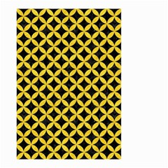 Circles3 Black Marble & Yellow Colored Pencil (r) Small Garden Flag (two Sides)