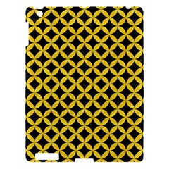 Circles3 Black Marble & Yellow Colored Pencil (r) Apple Ipad 3/4 Hardshell Case