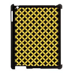 Circles3 Black Marble & Yellow Colored Pencil (r) Apple Ipad 3/4 Case (black)