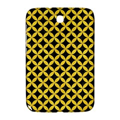 Circles3 Black Marble & Yellow Colored Pencil (r) Samsung Galaxy Note 8 0 N5100 Hardshell Case