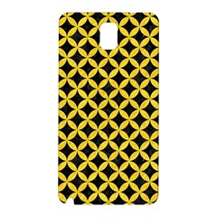 Circles3 Black Marble & Yellow Colored Pencil (r) Samsung Galaxy Note 3 N9005 Hardshell Back Case