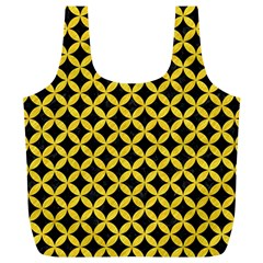 Circles3 Black Marble & Yellow Colored Pencil (r) Full Print Recycle Bags (l)