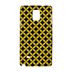 Circles3 Black Marble & Yellow Colored Pencil (r) Samsung Galaxy Note 4 Hardshell Case